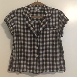 Steven Alan Cropped Cotton Button Up